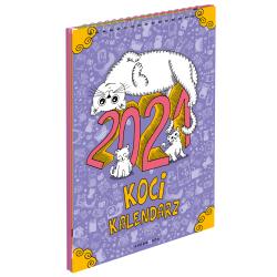 Koci kalendarz ścienny na 2021